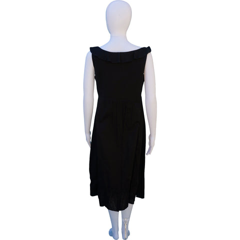 BURBERRY RUFFLE-TRIMMED SCOOP NECK DRESS on Leef luxury authentic designer resale consignment