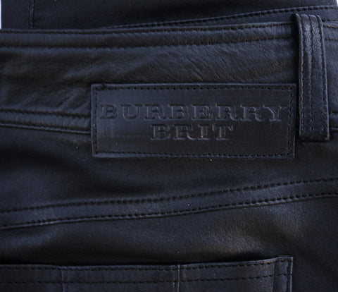 BURBERRY BRIT LEATHER JEANS
