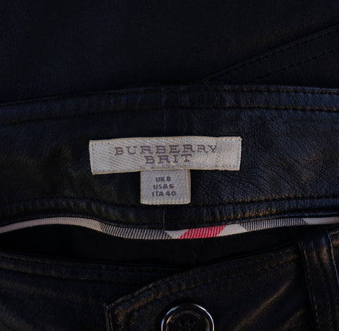 BURBERRY BRIT LEATHER JEANS Shop the best value on authentic designer resale consignment on Leef Luxury.