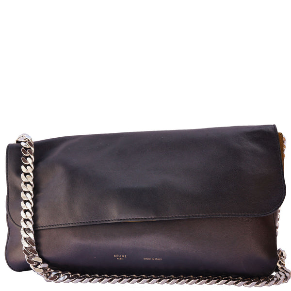CÉLINE GOURMETTE LEATHER CHAIN LINK SHOULDER BAG