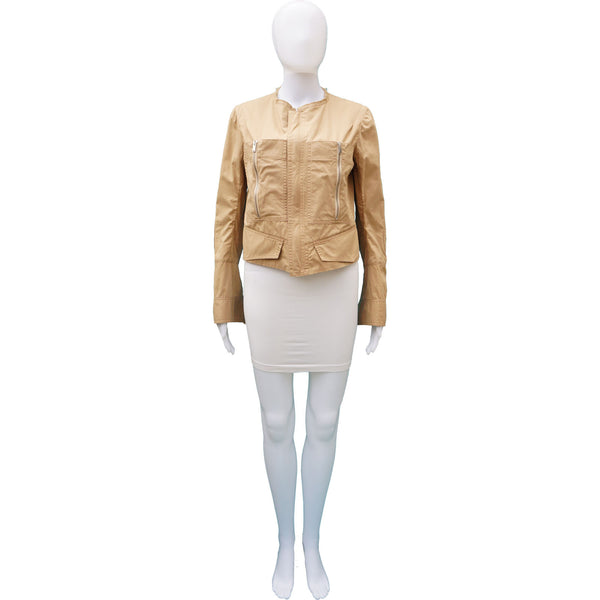 CELINE CROPPED KHAKI JACKET