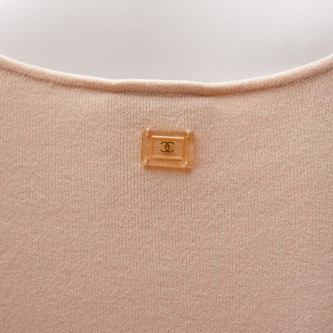 CHANEL BLUSH BODYSUIT - leefluxury.com