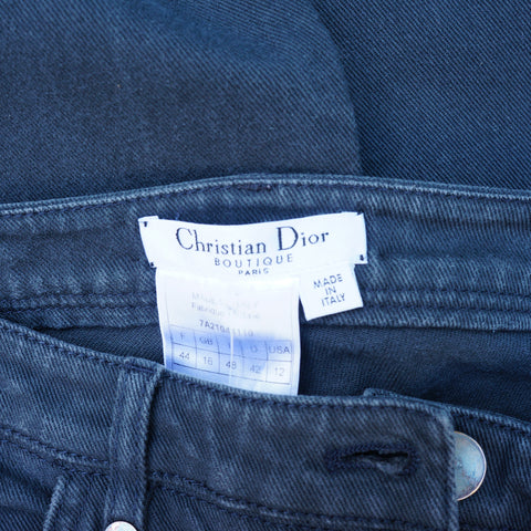 CHRISTIAN DIOR MID-RISE STRAIGHT-LEG JEANS on Leef luxury authentic designer resale consignment