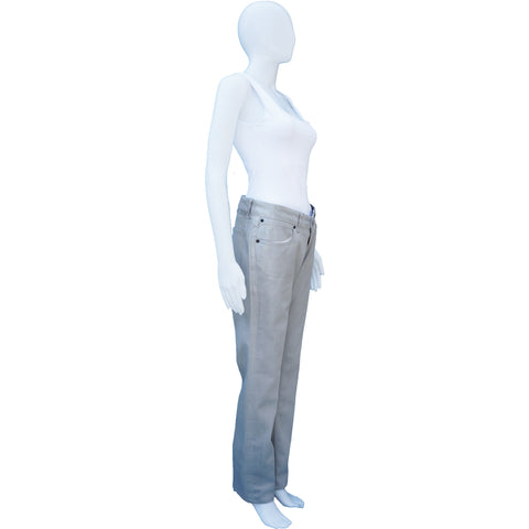 STELLA MCCARTNEY COATED STRAIGHT-LEG JEANS on Leef luxury authentic designer resale consignment