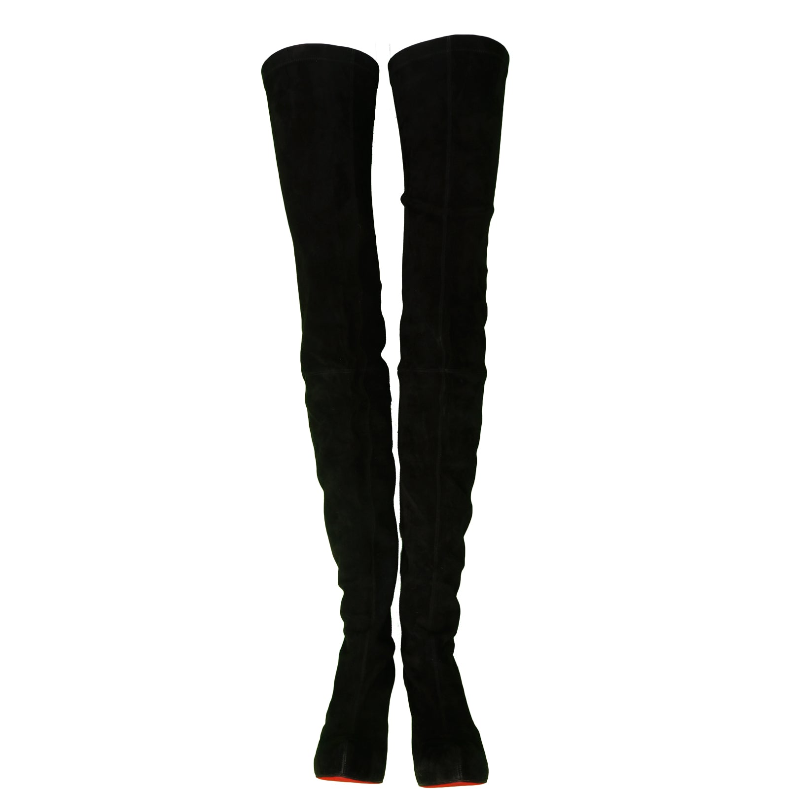 super popular 32abe dbeb7 CHRISTIAN LOUBOUTIN MONICA 120 SUEDE THIGH HIGH BOOTS ...
