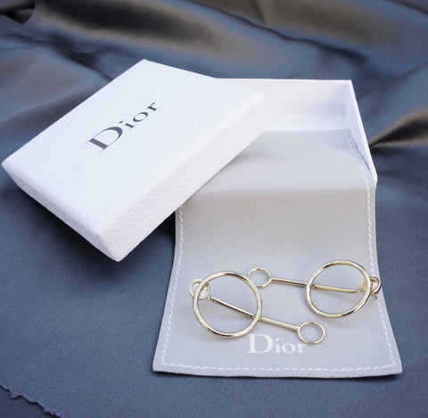 CHRISTIAN DIOR CIRCLE DROP EARRINGS  Shop the best value on authentic designer resale consignment on Leef Luxury.