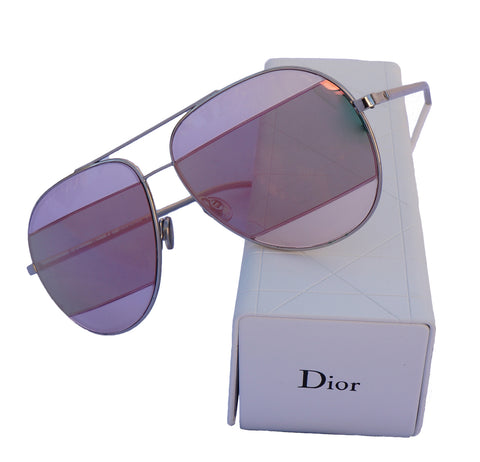 CHRISTIAN DIOR SPLIT 1 AVIATOR SUNGLASSES Shop the best value on authentic designer resale consignment on Leef Luxury.