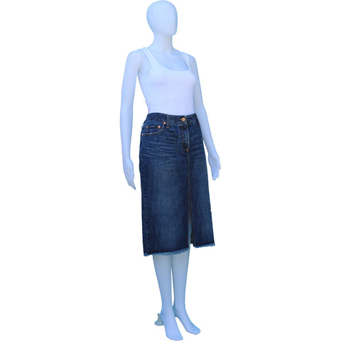 DOLCE & GABBANA DENIM KNEE-LENGTH SKIRT