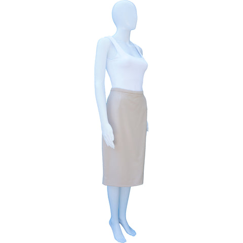 DOLCE & GABBANA BLUSH WOOL KNEE-LENGTH PENCIL SKIRT on Leef luxury authentic designer resale consignment