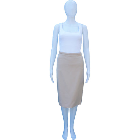 DOLCE & GABBANA BLUSH WOOL KNEE-LENGTH PENCIL SKIRT - leefluxury.com