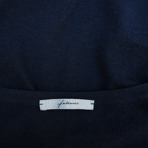 FALCONERI SLATE BLUE CASHMERE KNIT DRESS - leefluxury.com