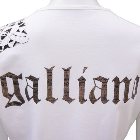 JOHN GALLIANO WHITE SKULL TSHIRT on Leef luxury authentic designer resale consignment