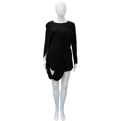 GIVENCHY DRAPED LONG SLEEVE TOP - leefluxury.com