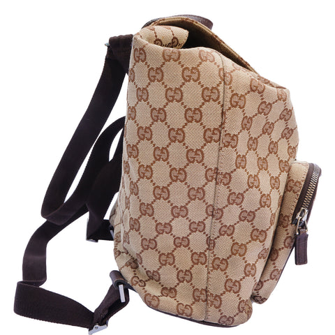 GUCCI GG CANVAS ABBEY BACKPACK Shop the best value on authentic designer resale consignment on Leef Luxury.