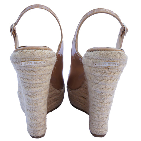 JIMMY CHOO POLAR ESPADRILLE WEDGES Shop the best value on authentic designer resale consignment on Leef Luxury.