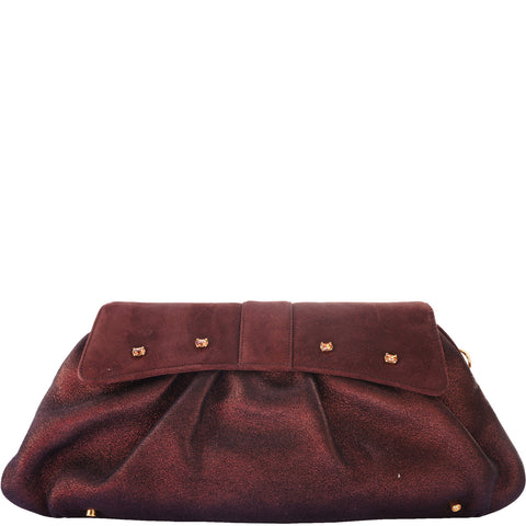 JUDITH LEIBER LEATHER & SATIN CLUTCH  on Leef luxury authentic designer resale consignment