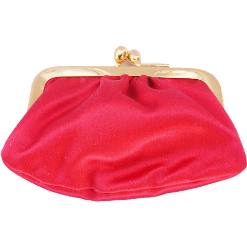 JUDITH LEIBER LEATHER & SATIN CLUTCH - leefluxury.com