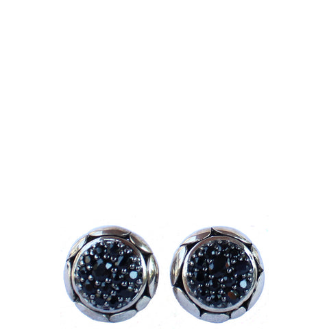 JOHN HARDY SAPPHIRE KALI LAVA FIRE ROUND EARRINGS