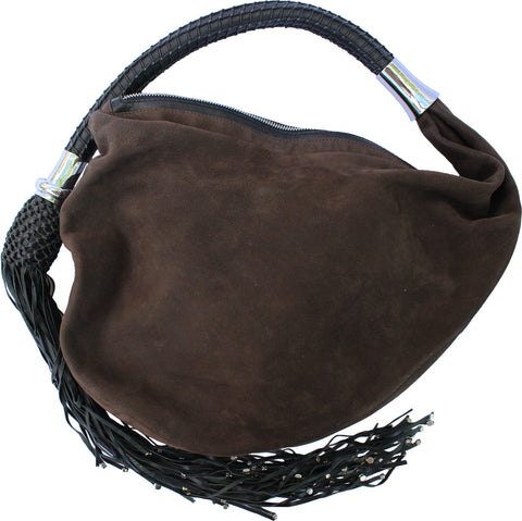 LECOANET HEMANT SEUDE AND TASSEL HOBO BAG - leefluxury.com