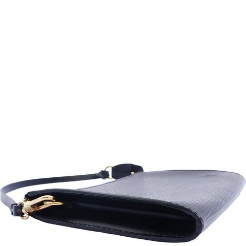 LOUIS VUITTON EPI POCHETTE BLACK CLUTCH BAG - leefluxury.com
