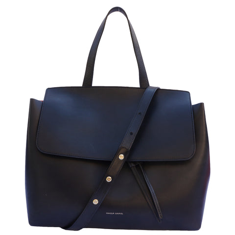 MANSUR GAVRIEL LEATHER LADY BLACK BAG Shop the best value on authentic designer resale consignment on Leef Luxury.