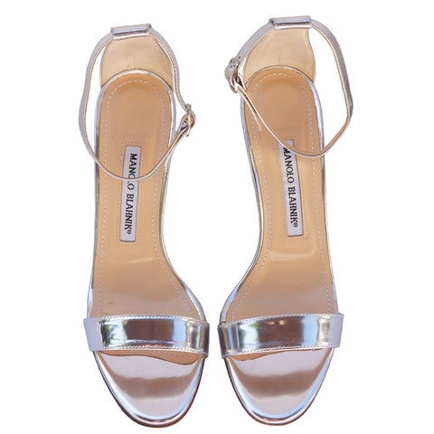 MANOLO BLAHNIK ANKLE STRAP SANDALS on Leef luxury authentic designer resale consignment