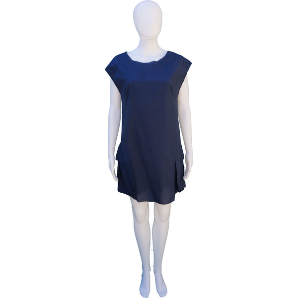 3.1 PHILLIP LIM SLEEVLESS DRESS WITH RUFFLE ACCENT