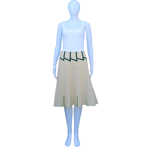 PRADA SILK PANEL SKIRT WITH GREEN ACCENTS
