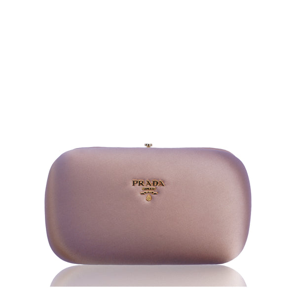 PRADA SATIN BOX CLUTCH