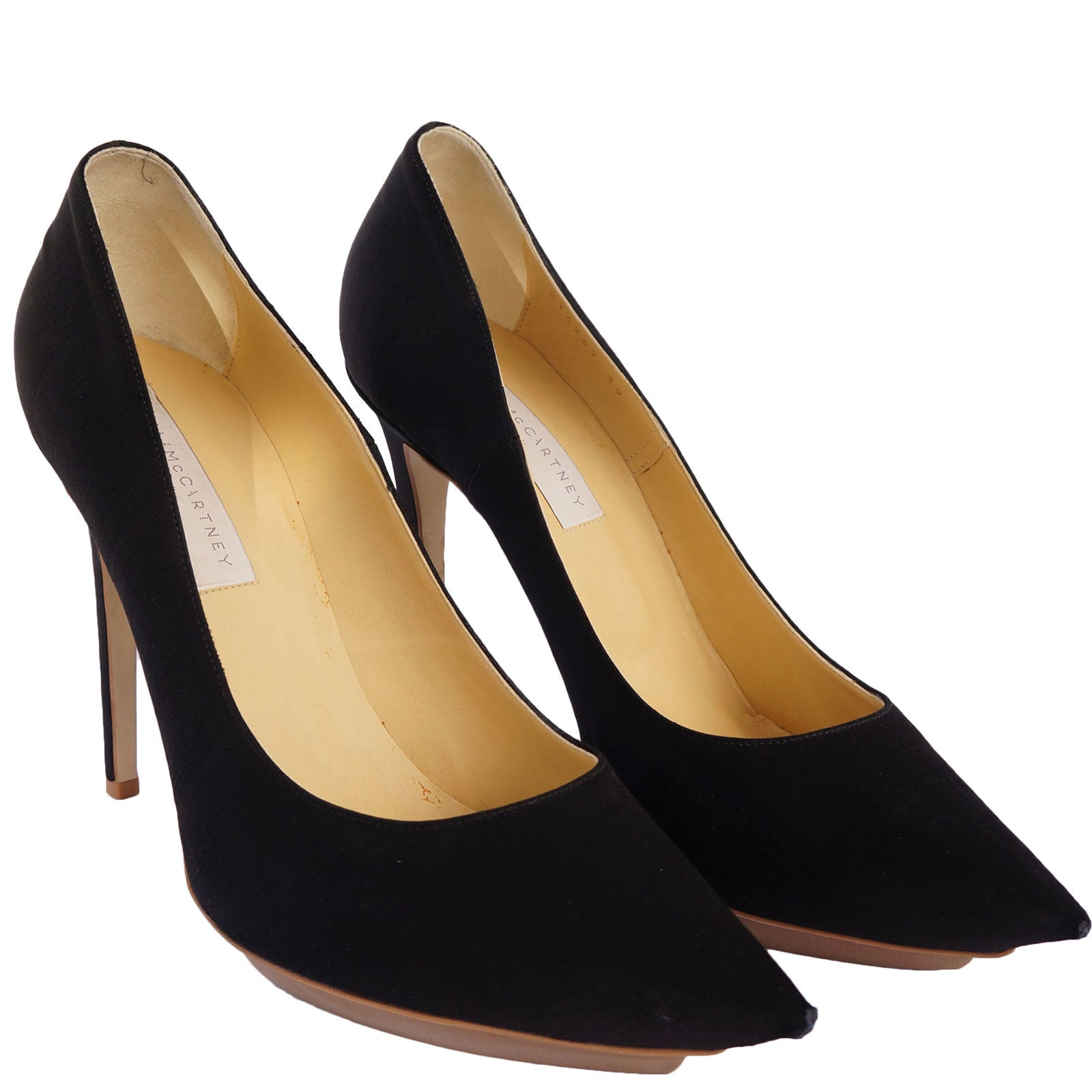 shop for sale online Stella McCartney Satin Pointed-Toe Pumps free shipping tumblr extremely online outlet locations cheap price comfortable cheap price Kqlm2