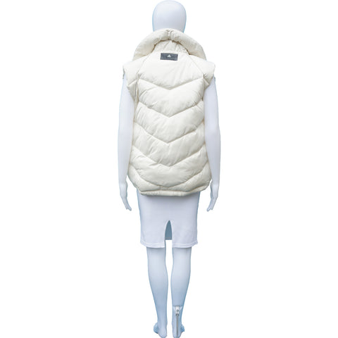 STELLA MCCARTNEY FOR ADIDAS CREAM PUFFER VEST on Leef luxury authentic designer resale consignment