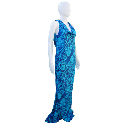 VERA WANG SILK PRINTED DRESS Shop the best value on authentic designer resale consignment on Leef Luxury.