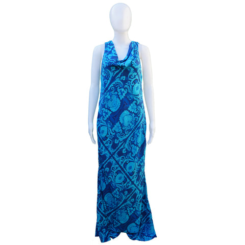 VERA WANG SILK PRINTED DRESS - leefluxury.com