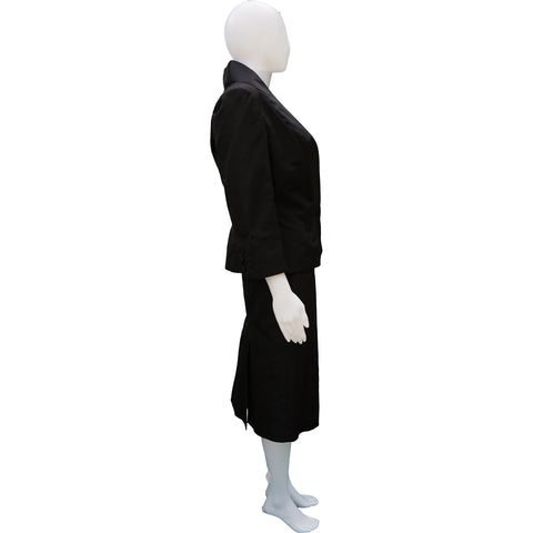 ALEXANDER MCQUEEN SILK TUXEDO SKIRT SUIT NEW WITH TAGS  on Leef luxury authentic designer resale consignment