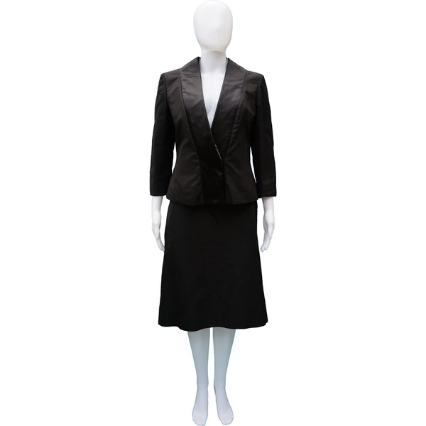 ALEXANDER MCQUEEN SILK TUXEDO SKIRT SUIT NEW WITH TAGS