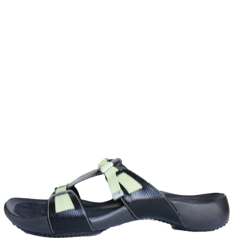 COLE HAAN BLACK FLAT SANDALS - leefluxury.com