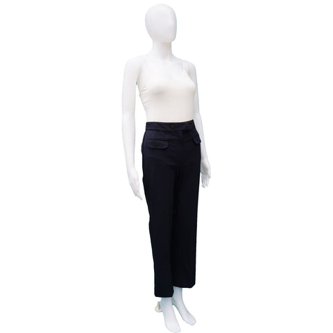 BLUMARINE TESSUTO STRAIGT LEG PANT on Leef luxury authentic designer resale consignment