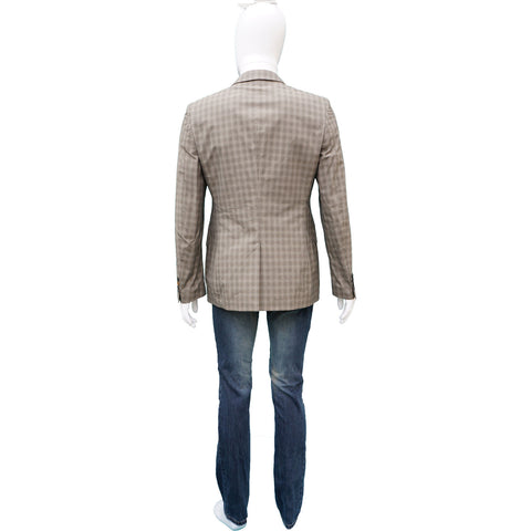 PAUL SMITH MEN'S LIGHT WOOL GLEN PLAID BLAZER on Leef Luxury