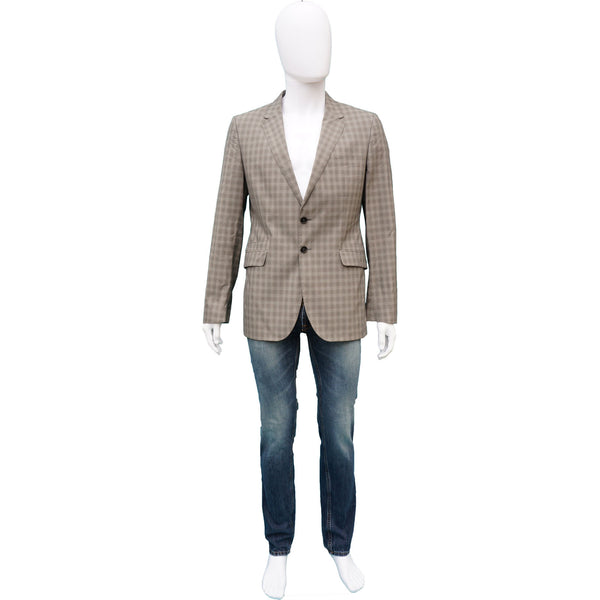 PAUL SMITH MEN'S LIGHT WOOL GLEN PLAID BLAZER