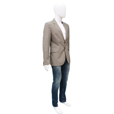 PAUL SMITH MEN'S LIGHT WOOL GLEN PLAID BLAZER - leefluxury.com