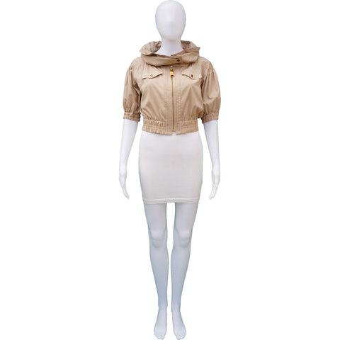 BURBERRY LONDON CROPPPED BOMBER - leefluxury.com