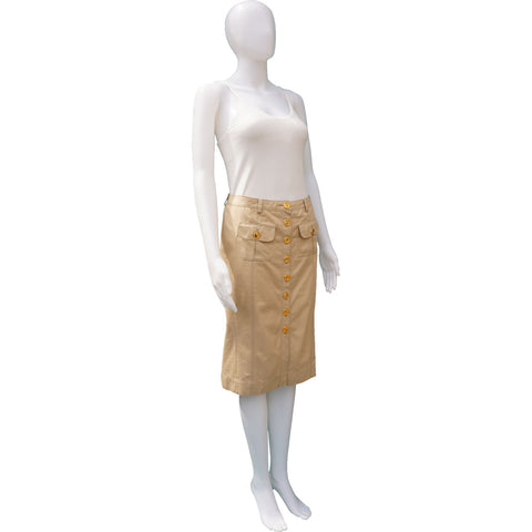 BURBERRY KNEE-LENGTH PENCIL SKIRT on Leef luxury authentic designer resale consignment