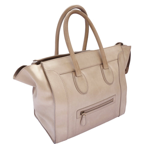 CÉLINE LUGGAGE TOTE ON LEEF LUXURY AUTHENTIC DESIGNER CONSIGNMENT