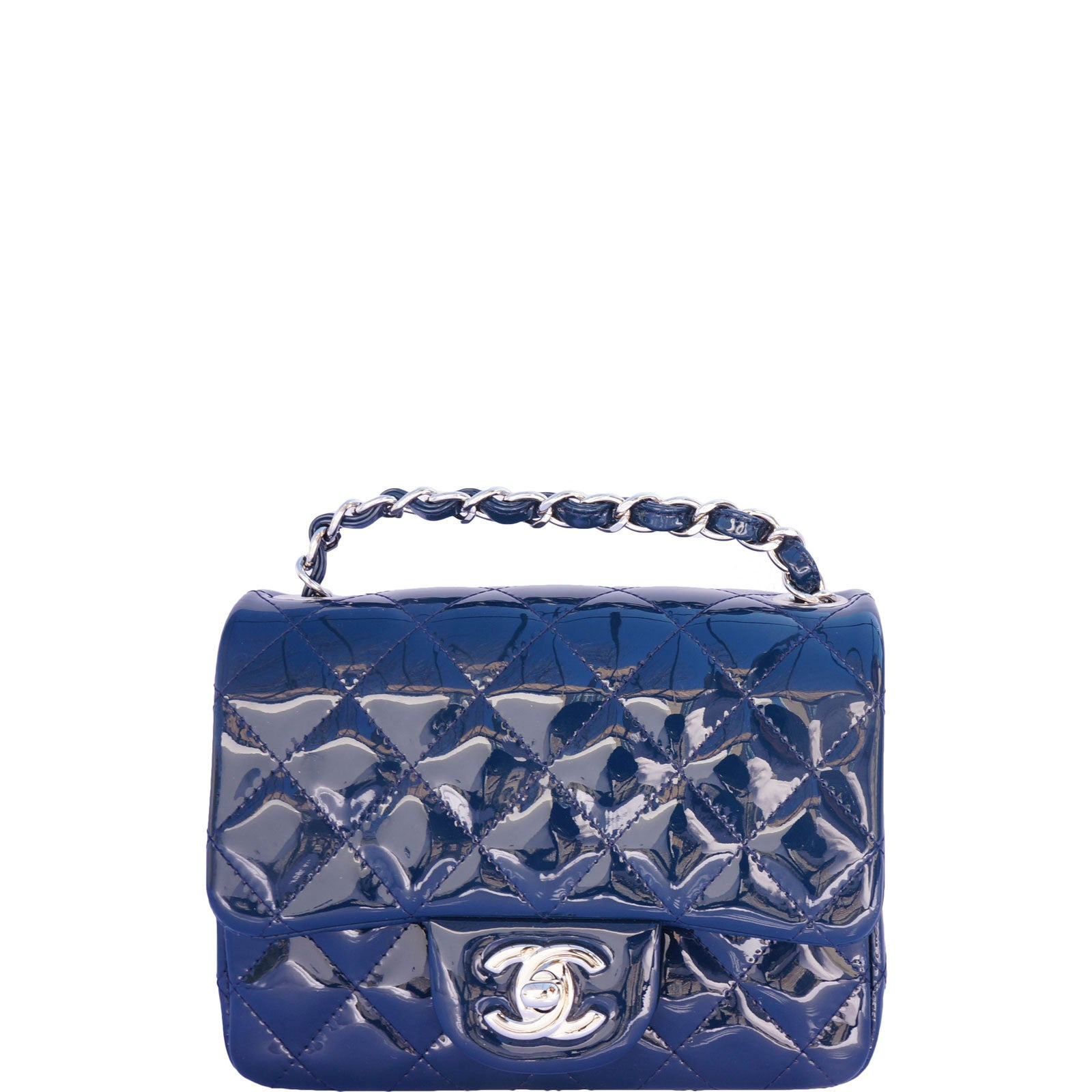 62829b8d2bcfde AUTHENTIC CHANEL MINI CLASSIC SQUARE FLAP BAG – leefluxury.com