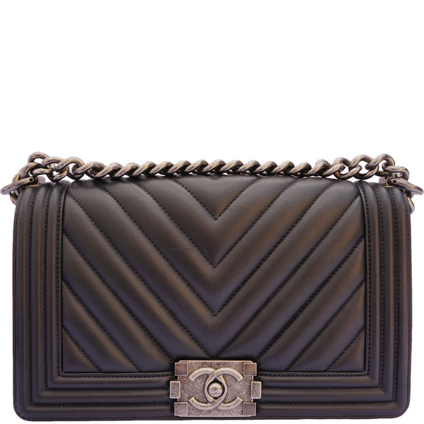 CHANEL OLD MEDIUM CHEVRON BOY BAG