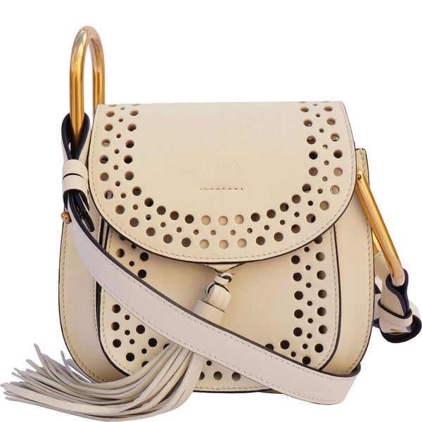CHLOE HUDSON MINI PERFORATED LEATHER SHOULDER BAG