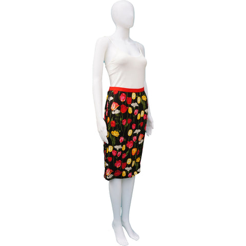 DOLCE & GABBANA FLORAL PRINT KNEE-LENGTH SKIRT on Leef Luxury authentic designer consignment