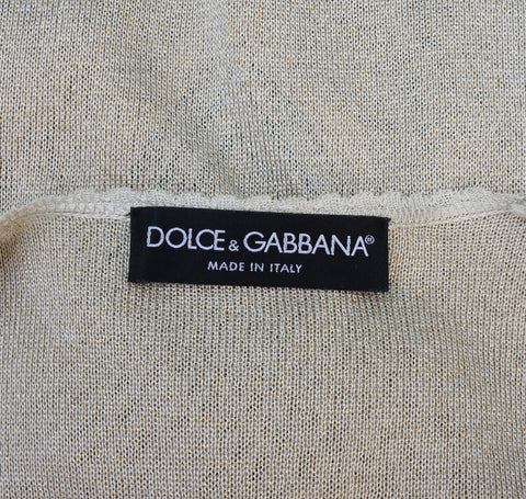 DOLCE & GABBANA V-NECK WITH FLORAL DETACHABLE BROOCH KNIT SWEATER - leefluxury.com