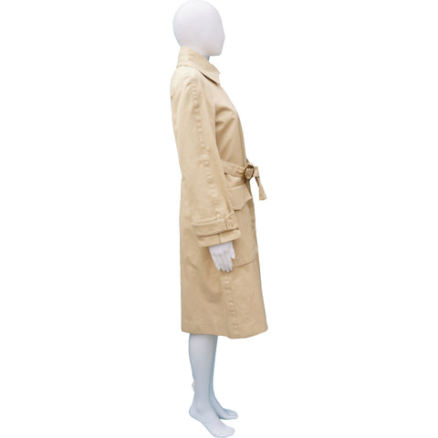 GUCCI TRENCH COAT WITH STUDDED GG LOGO BELT - leefluxury.com
