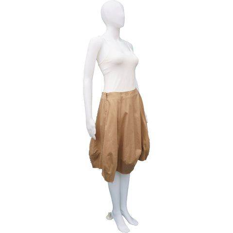 HAUTE TAN BUBBLE SKIRT on Leef luxury authentic designer resale consignment